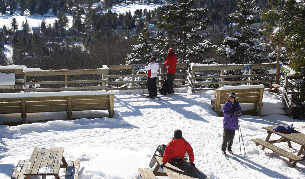 Hiver ski de fond Parc régional val-david val-morin