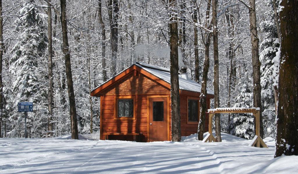 Hiver refuge chauffé Parc régional val-david val-morin