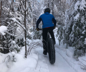 fat bike hiver parc regional Val-David