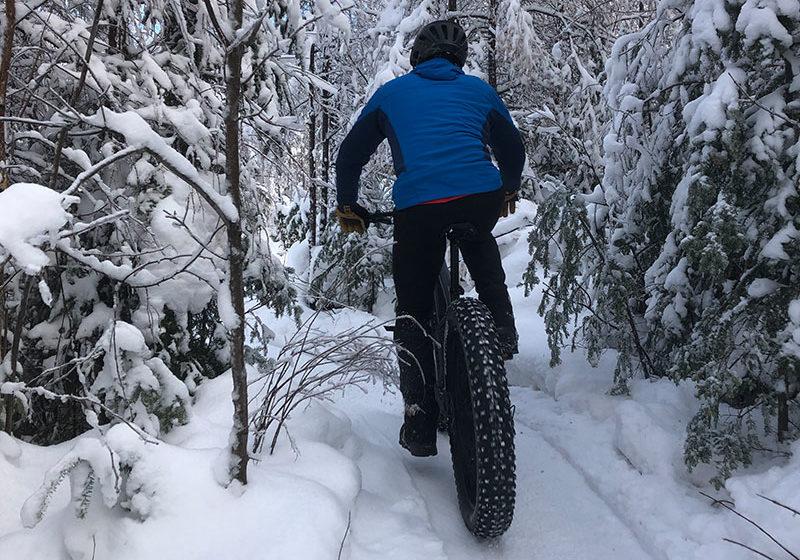 fat bike hiver parc regional Val-David